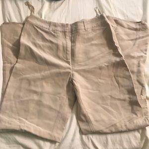 Charter Club Katherine Fit Full Length Silk Pants
